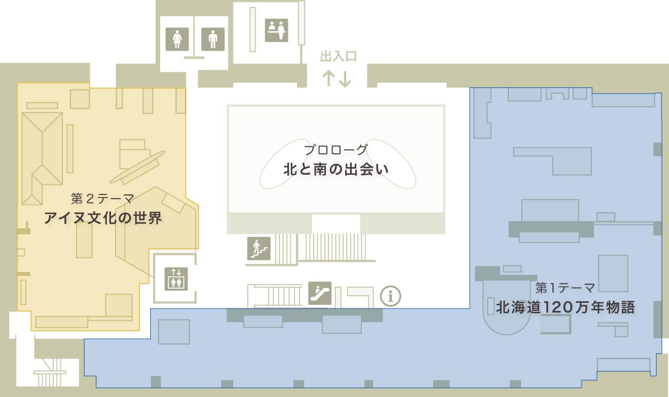 総合展示室フロアマップ 1F