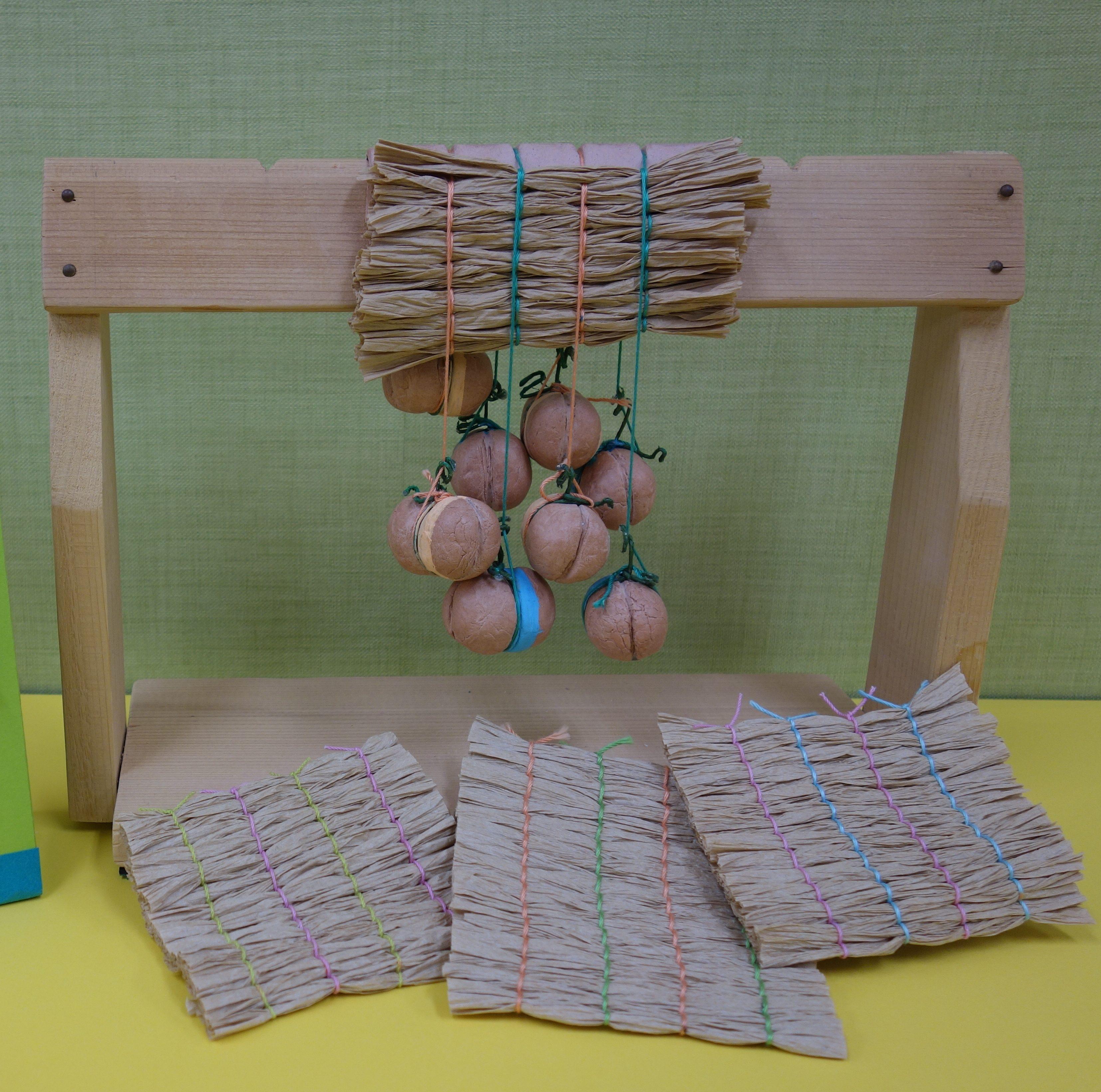 はっけんイベント<br>アイヌ民族のゴザ編み機でコースターを作ろう!