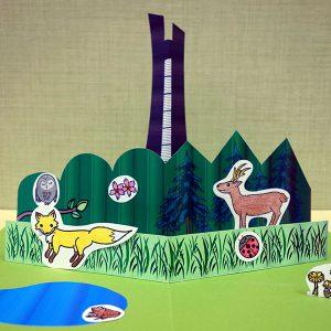はっけんイベント<br>春の野幌森林公園 ポップアップカードをつくろう!