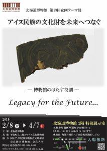 第13回企画テーマ展「アイヌ民族の文化財を未来へつなぐ -博物館のはたす役割-」
